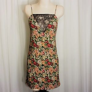 Zara Woman Sleeveless Floral Dress Lace Front XS